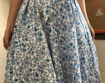 SALE - Small blue floral wrap skirt
