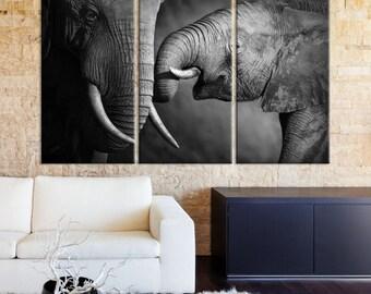 Wild Elephant Wall Art Canvas Print, Elephant Canvas, Elephant Print, Elephant Canvas Art, Elephant Wall Art, Canvas Print, Elephant Art,