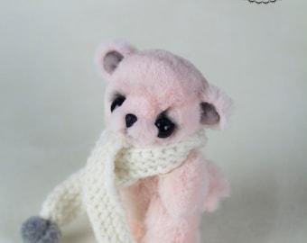 Artist Bear - Bear Toy - Teddy Bear Artist - OOAK Bear - Small Bear Toy - Stuffed Bear - 4.7 inches - Plush Animals - Stuffed Teddy Bear