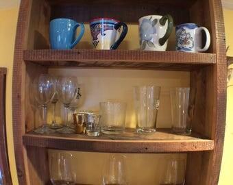 Rustic Glassware Shelf