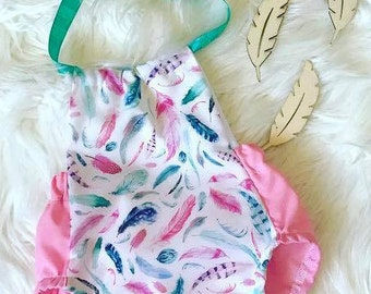 Candy Feather Romper