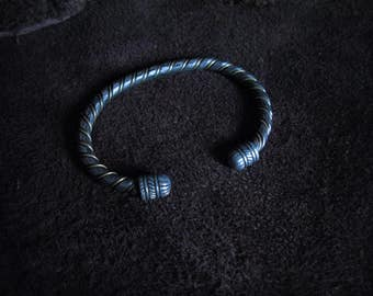 Bronze and forged steel bracelet