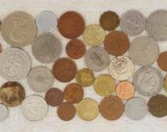 "4"" x 12"" Foreign Coin Tile"