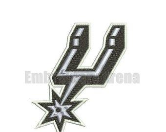 Basketball embroidery design - (San Antonio Spurs) - instant DOWNLOAD digital file