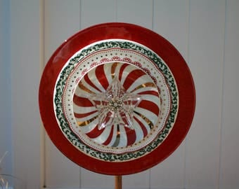 Christmas Plate Flower