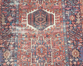 """10% OFF USE CODE SAVE10 4'5""""x6'4"""" Antique Persian Rug"""