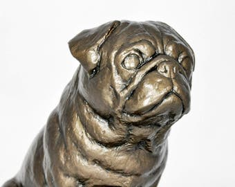 PUG - unique dog sculpture