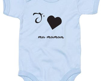 "Funny Bodysuit ""I love my mommy"" - or t-shirt"