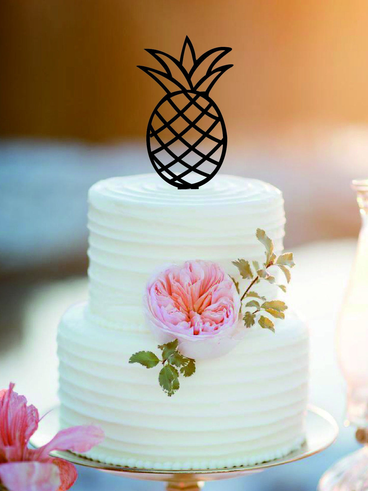 Pineapple Wedding Cake Topper Customized Mr