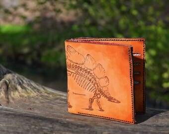 Stegosaurus Billfold Leather Men's Wallet