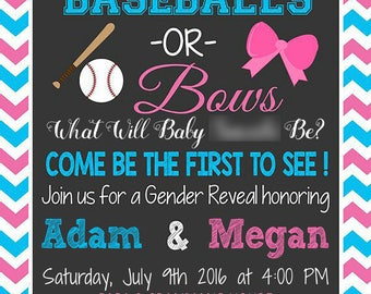Custom Gender Reveal Invitation