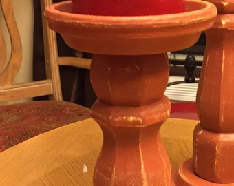 "SMALL 8"" Individual pillar candle holders custom made"
