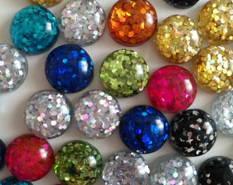 10/20pcs  12mm Mix Colors Flat back Resin Cabochons Cameo