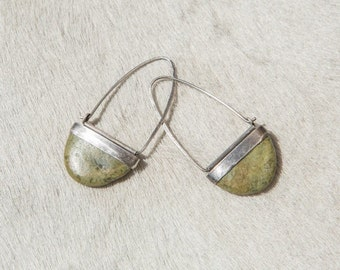 Set & Cut Stone Earrings