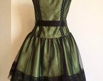 Vintage 90s Jessica McClintock Gunne Sax short dress, sz 3
