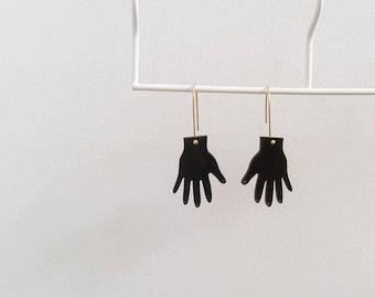 Black Handy Earrings
