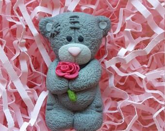 Brooch for girl Teddy Bear from polymer clay