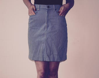 Levi stripped high waist skirt