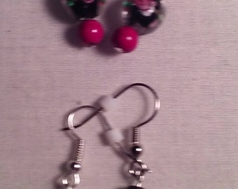 Roses and Glass Earrings