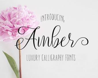 Calligraphy font, Digital fonts, Fonts, Script font, Font download, Modern calligraphy font, Handwritten font, Watercolor font. Font instant