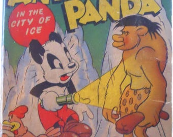 Vintage Andy Panda Better Little Book - Andy Panda In the City of Ice - 1948 - Book Number 1441