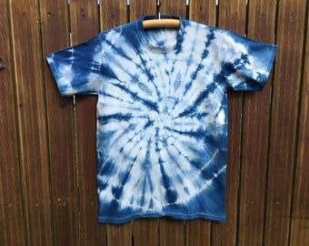 Hand-dyed Indigo batik shirt No. 4 / meter