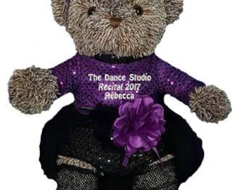 Personalized Brown Jazz Girl Bear