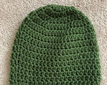 Handemade Knitted Hat, Green