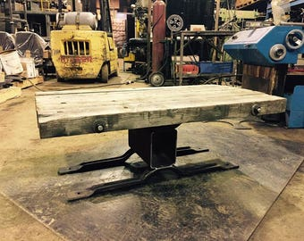 Reclaimed, Repurpoused Industrial Rustic Coffee Table