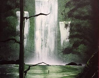Nature scene painting canvas