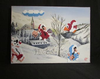 "Painting ""Ice Climber"""