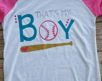 Baseball - That's My Boy Raglan