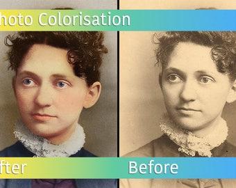 Photo Colorisation - Photo Manipulation - Vintage Photo Colouring - Photo Editing