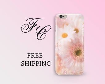 Floral Phone Case iPhone 7 Case Flowers iPhone 6 Case iPhone 5 Case Daisy iPhone SE Case iPhone 7 Plus iPhone 6s Case Pink iPhone 8 Case ajj