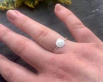 Sterling Silver Tiny Circle Ring   MADE TO ORDER   Contemporary Jewellery Design