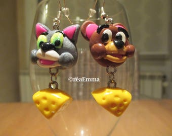 Tom and Jerry earring