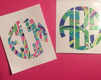 Lilly Pulitzer Inspired Monogram