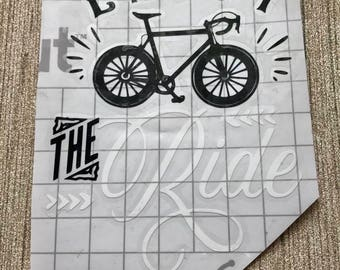 Enjoy The Ride- Vinyl Decal- Bumper Sticker- Yeti Decal- Sticker- Bicycle Sticker- Laptop Sticker