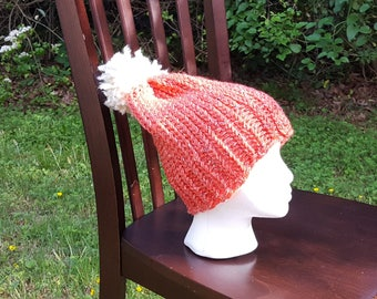 Coral Slouchy Hat
