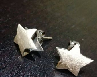 925 Silver Star shaped earrings
