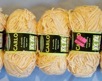 5 Carlo Tape Yarn Orange 50g Lot