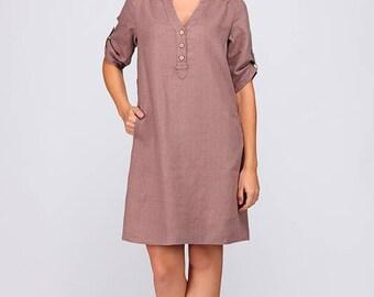 Pure linen dress