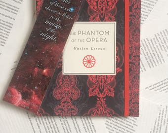 "Phantom of the Opera Bookmark ""Music of the Night"" Gaston Leroux"