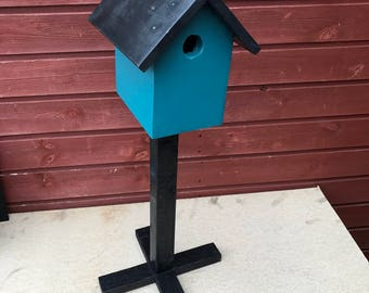 Handmade Birdhouse on a stand