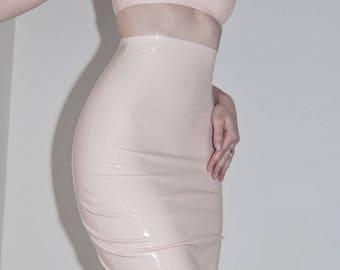 LaTeX high waisted mini skirt - colour choice