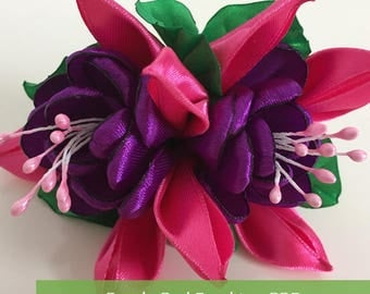 Pink Purple Fuschia Hair Tie (Handmade)