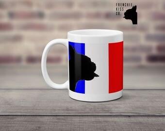 french bulldog flag / french bulldog mug, coffee mug, tea mug