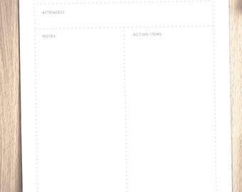 Printable Meeting Notes