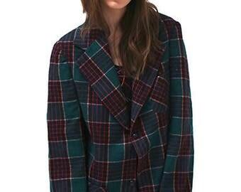 New York Vintage Multi Plaid Jacket