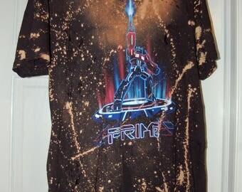 Hand Distressed Optimus Prime Vintage T Shirt